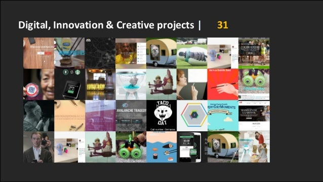 Digital, Innovation & Creative projects | 31