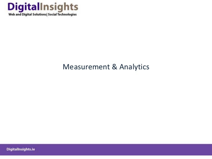 Measurement & Analytics<br />