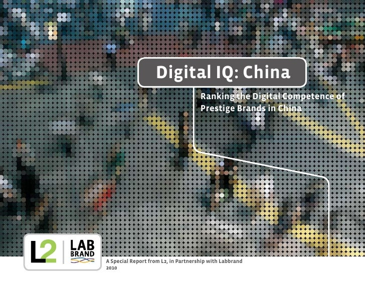 Digital IQ: China                                      Ranking the Digital Competence of                                  ...