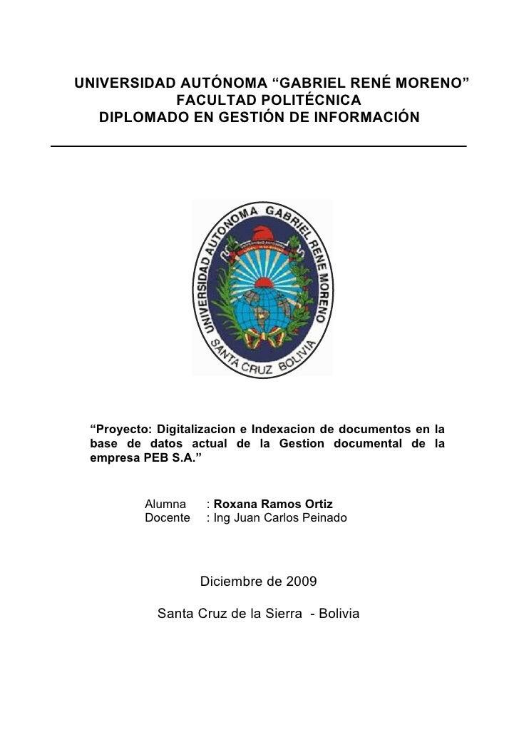 DigitalizaciòN E IndexaciòN De Documentos