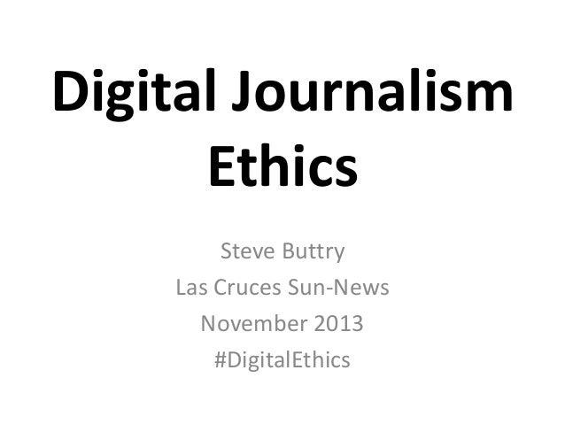 Digital Journalism Ethics