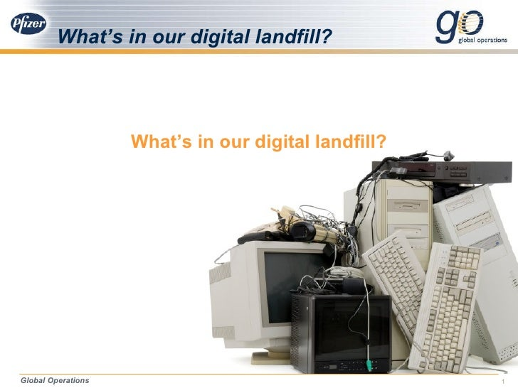 What's in our digital landfill? <ul><li>What's in our digital landfill? </li></ul>