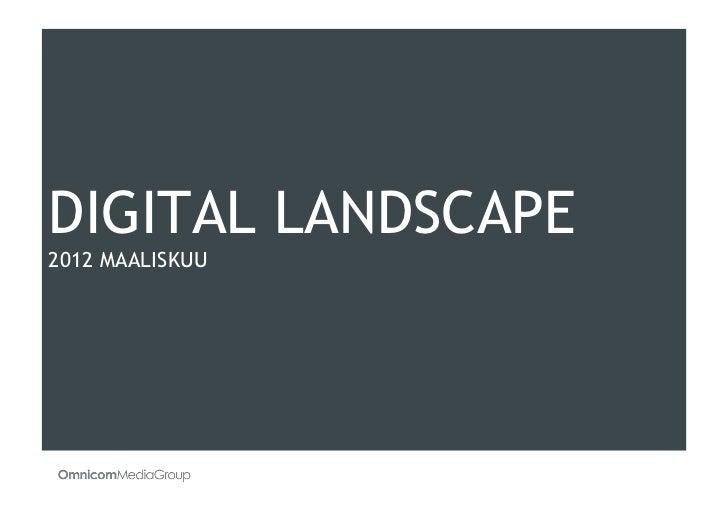 Digital Landscape March 2012