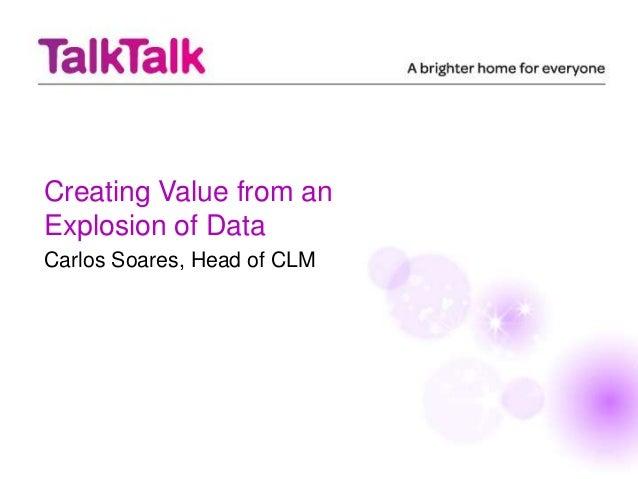 TalkTalk - Data - Carlos Soares