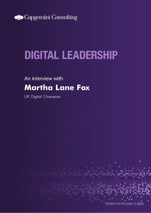 An interview with Martha Lane Fox UK Digital Champion