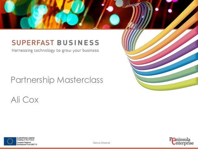 Serco Internal Partnership Masterclass Ali Cox