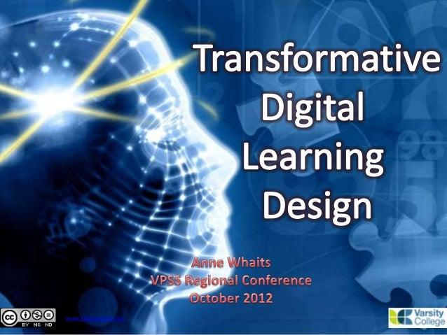 Transformative Digital Learning Design