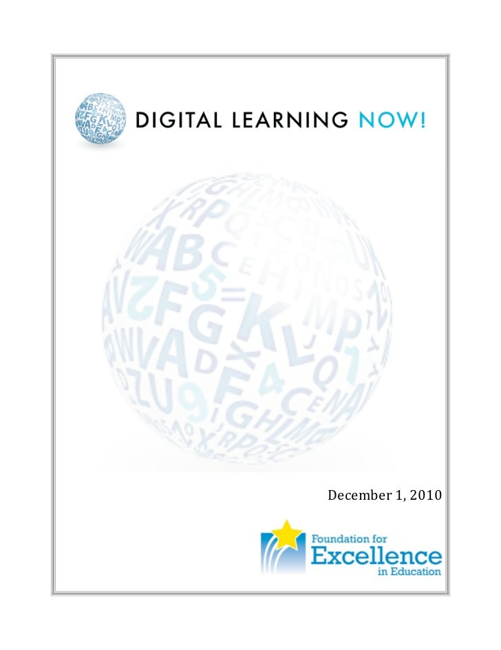 Digital Learning Now Report