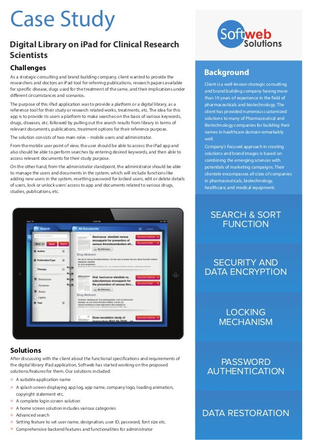 Digital Library iPad Application for Referring Documents
