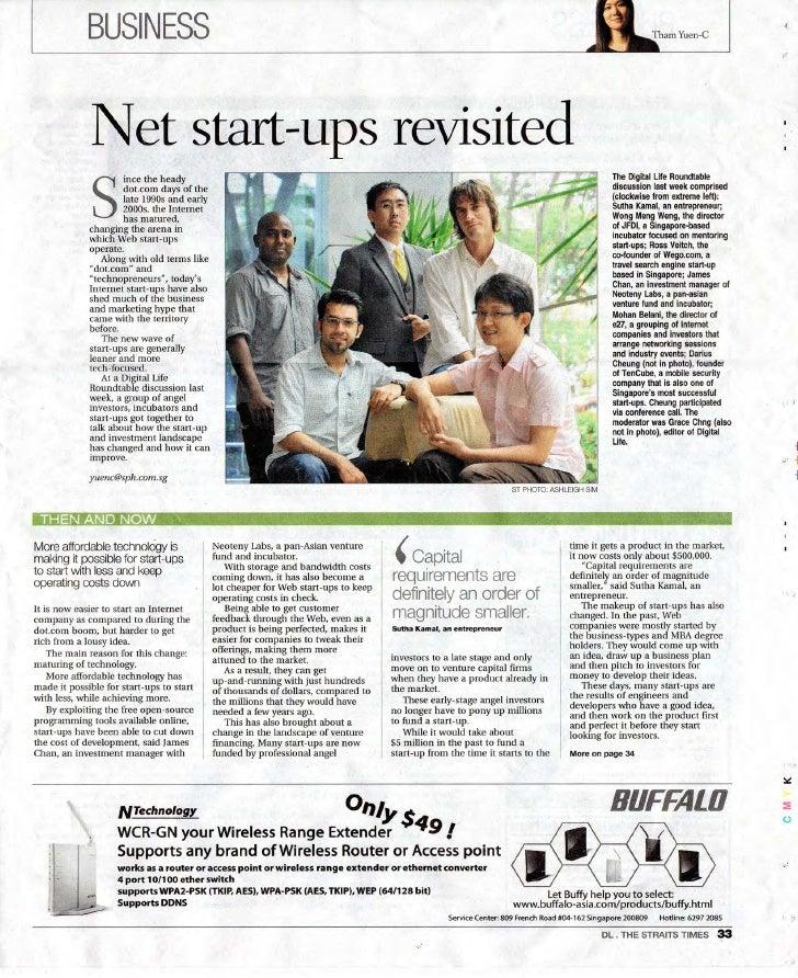Digital Life - Revisiting Net Startups