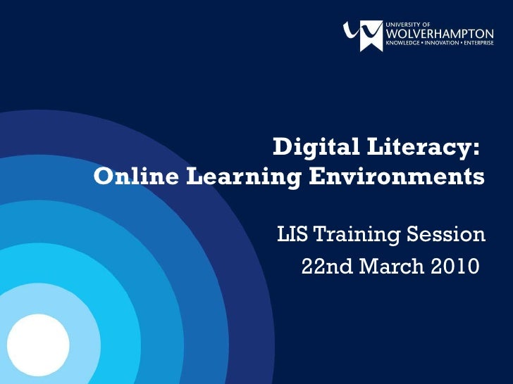 Digital Literacy - Learning Environments