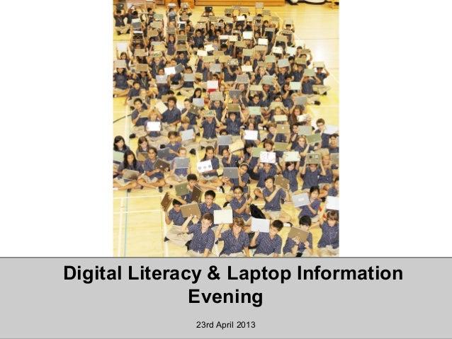 Digital literacy&laptopinformationevening