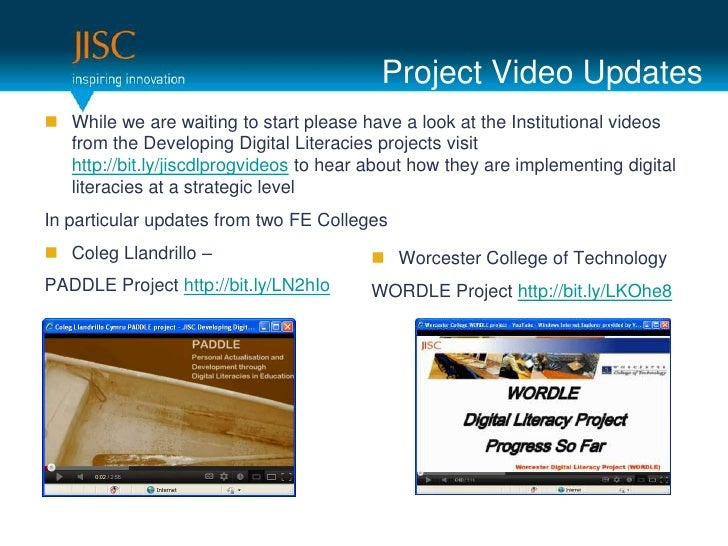 Project Video Updates While we are waiting to start please have a look at the Institutional videos  from the Developing D...