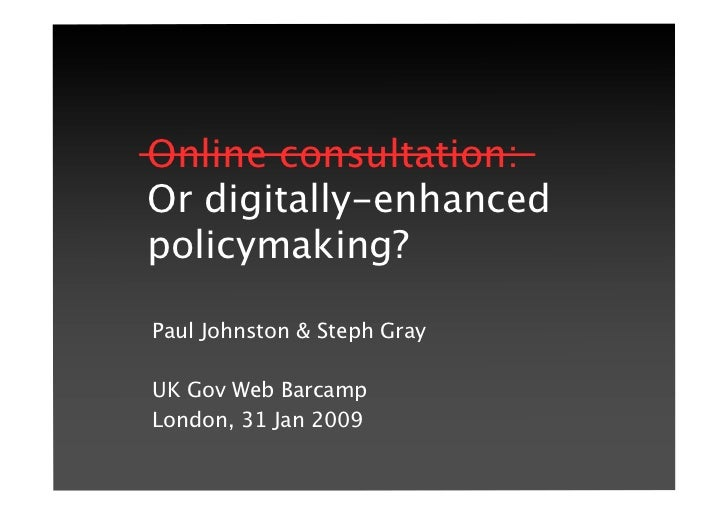Digitally Enhanced Policymaking