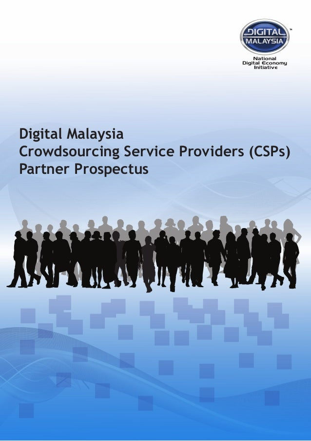 Digital Malaysia Crowdsourcing Service Providers (CSPs) Partner Prospectus