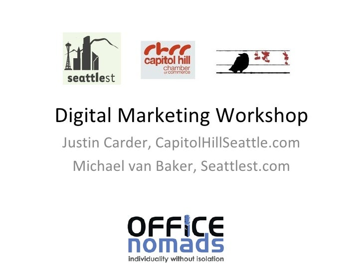 Capitol Hill - Local & Small Biz Digital Marketing Workshop