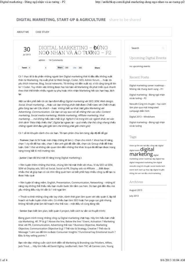 Digital marketing - Đừng ngộ nhận và ảo tưởng - P2 http://anhlebksp.com/digital-marketing-dung-ngo-nhan-va-ao-tuong-p2/ 1 ...
