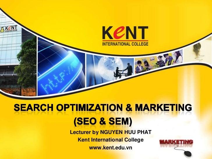 Digital marketing seo - Kent International College