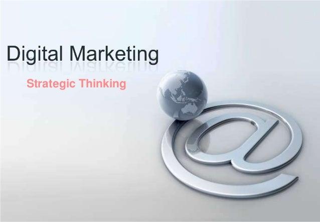 Digital marketing - strategic thinking
