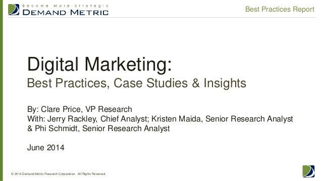 Digital Marketing Best Practices Report