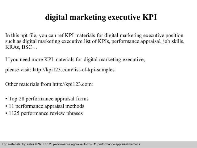 Digital Marketing Executive Kpi