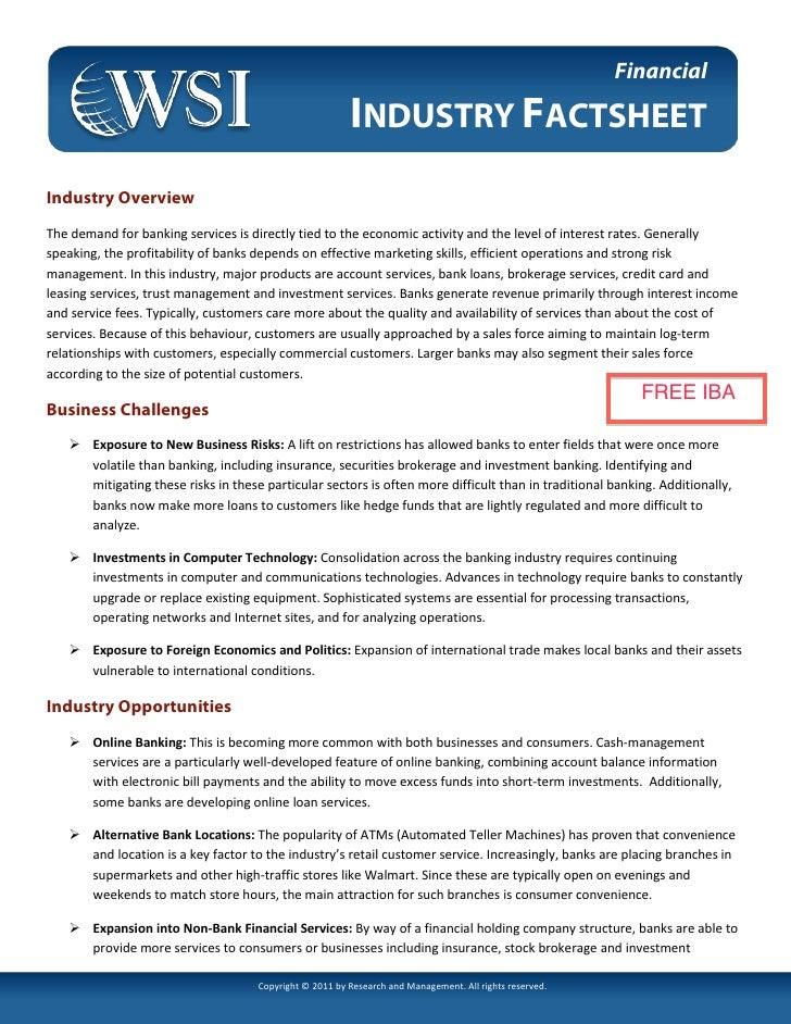 Financial Fact Sheet (Digital Marketing) by WSI Online
