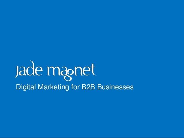 Digital Marketing for B2B Businesses