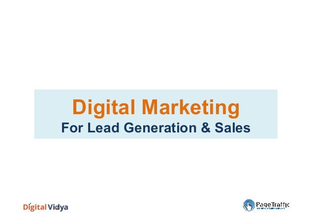 Digital Marketing For Lead Generation & Sales