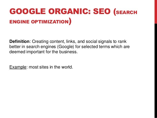 Master thesis search engine optimization