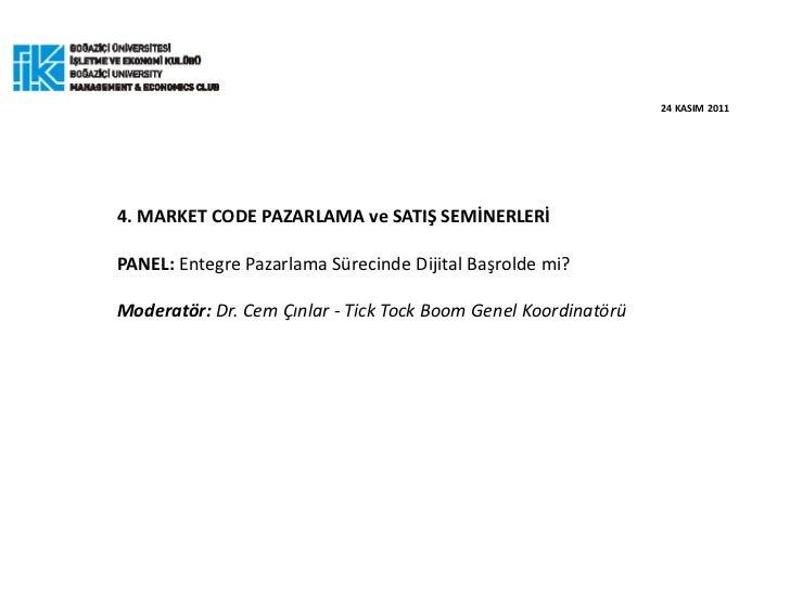 Role of Digital Marketing - Cem Cinlar , PhD.
