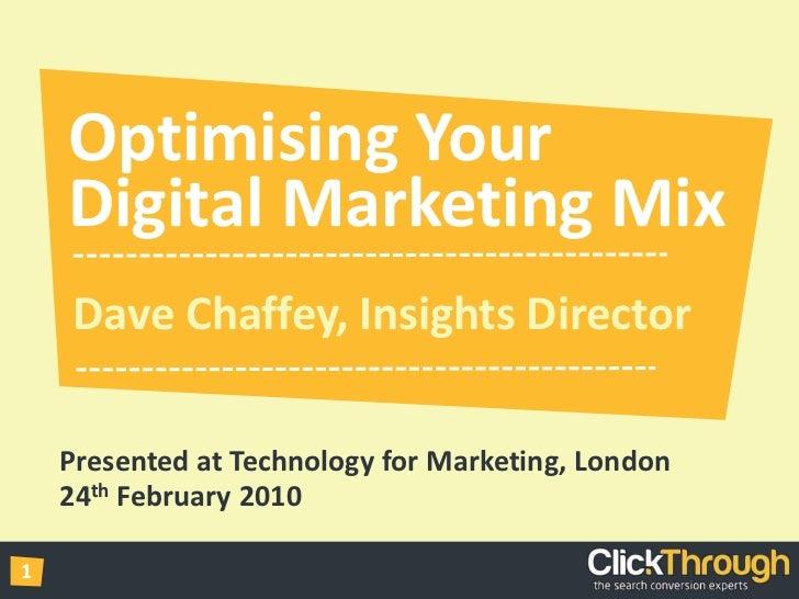 Optimising Your Digital Marketing Mix