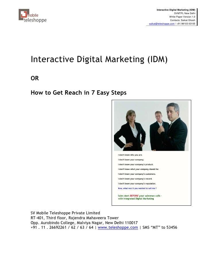 Interactive Digital Marketing (IDM)                                                                                   SVMT...