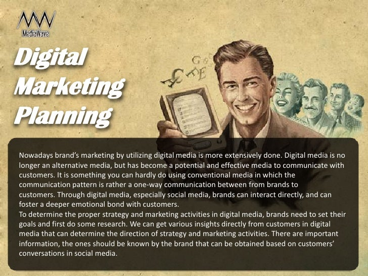 Digital marketing planning