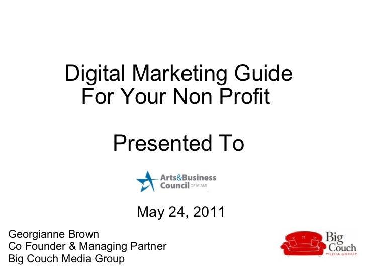 Digital Marketing Guide for Non Profits
