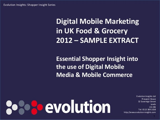 Evolution Insights: Shopper Insight Series                                             Digital Mobile Marketing           ...