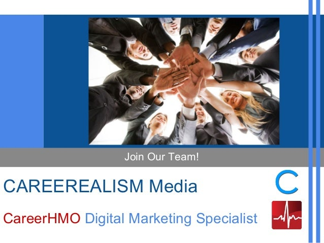CAREEREALISM Media CareerHMO Digital Marketing Specialist Join Our Team!