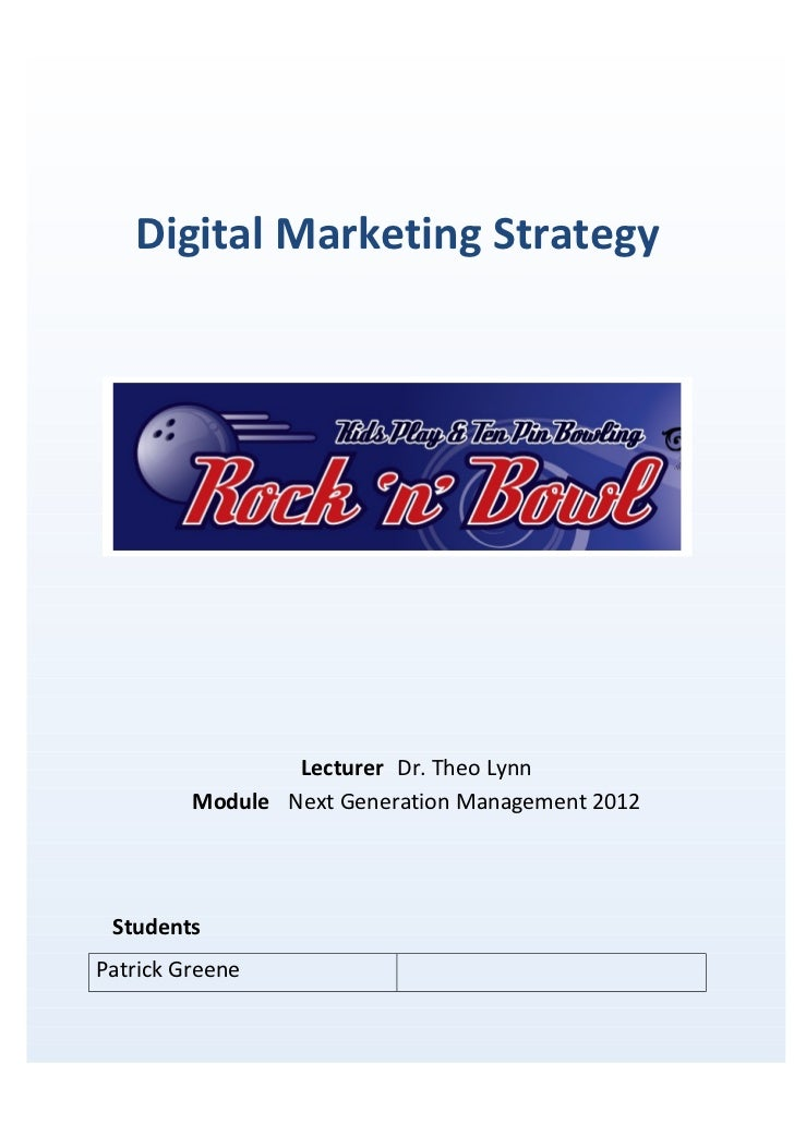 Digital Marketing Strategy for Small Consumer Business