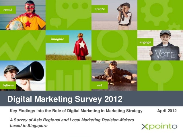 Digital Marketing Survey 2012 imagine inform create engage reach act April 2012Key Findings into the Role of Digital Marke...