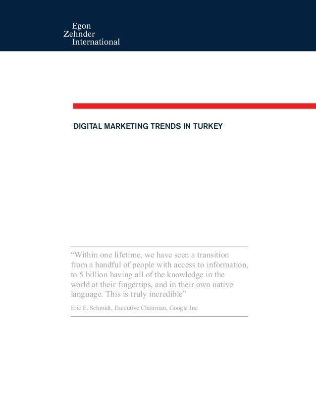 Türkiye Digital Medya Pazarlama Trendleri