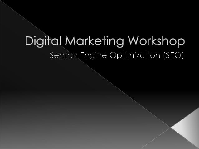 Digital Marketing - SEO Introduction