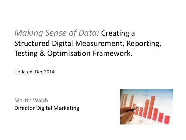 Digital Marketing Measurement Framework - Martin Walsh