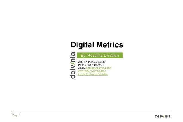 Digital metrics 2012_slideshare
