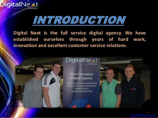 Digital Next is the full service digital agency. We have established ourselves through years of hard work, innovation and ...