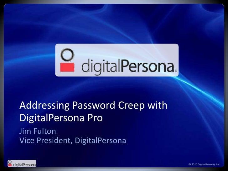 Addressing Password Creep