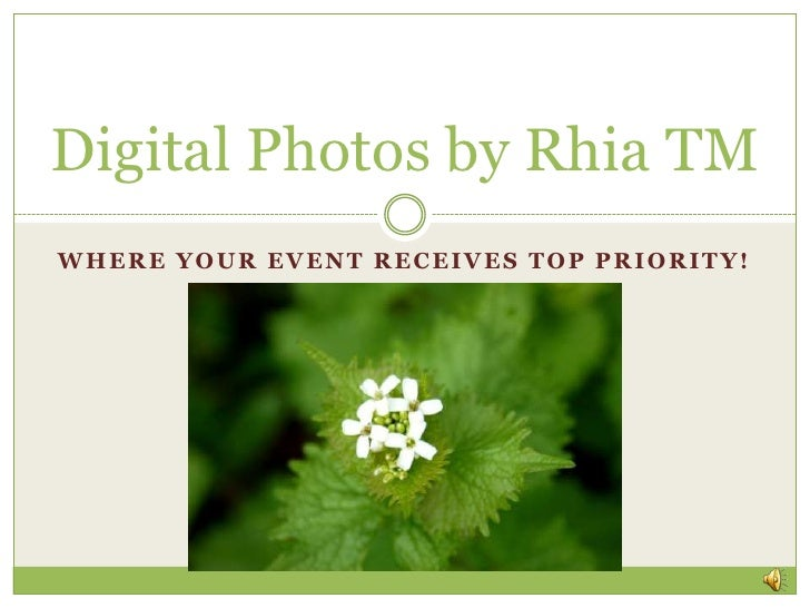 Digital Photos By Rhia Tm Linked In Slide Share Business Slideshow With Sound