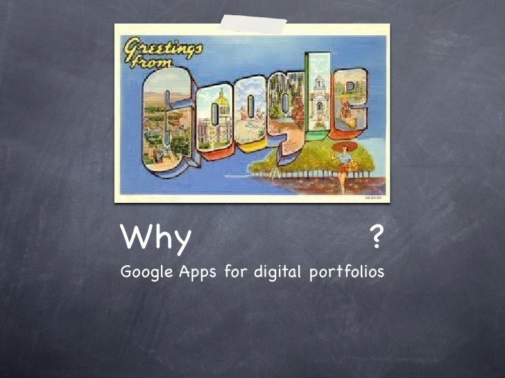 Digital portfolios   google