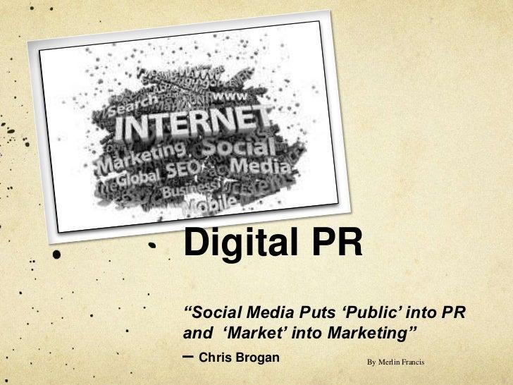 Digital PR - An Overview