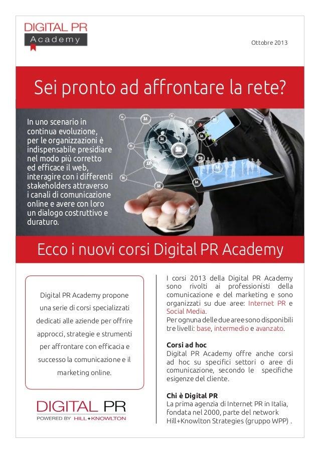 Digital pr academy   ottobre 2013