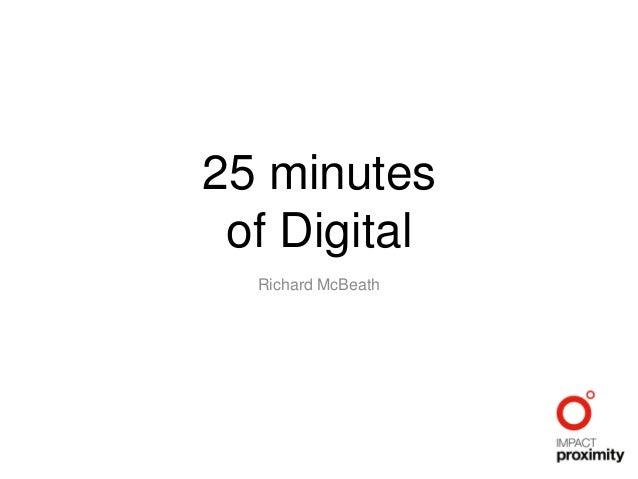 25 minutes of Digital Richard McBeath