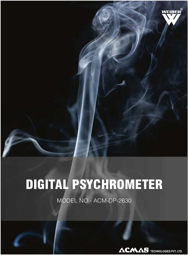 R  DIGITAL PSYCHROMETER MODEL NO.- ACM-DP-2630